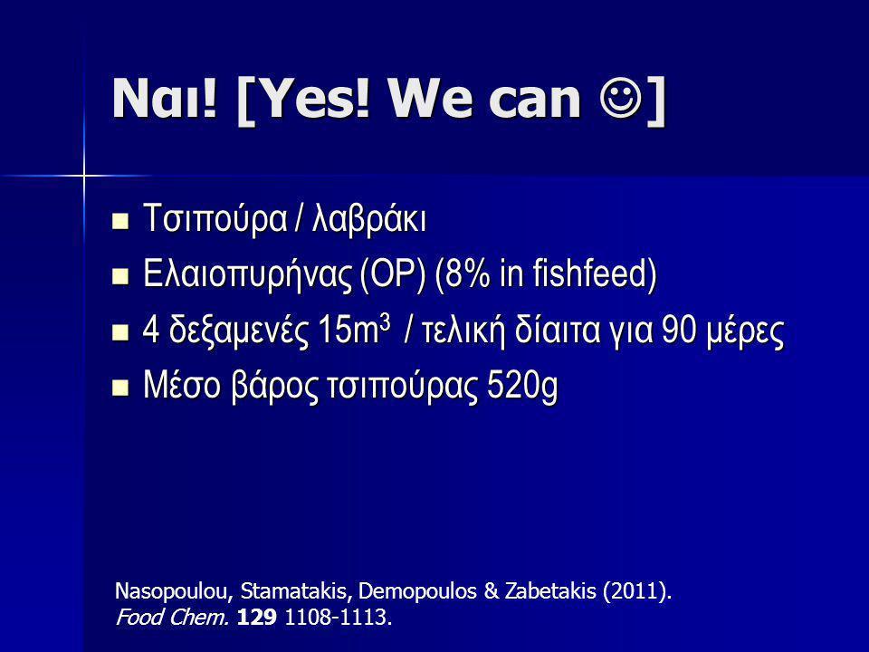 Ναι! [Yes! We can ] Τσιπούρα / λαβράκι
